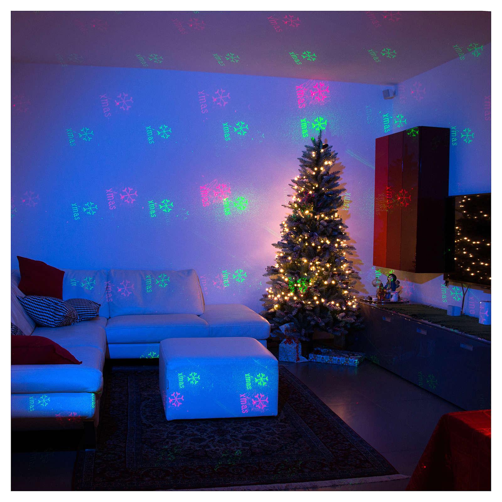 7a668825569 Proyector Láser Navidad 6 Efectos Navideños Rojo y Verde para Interior 3
