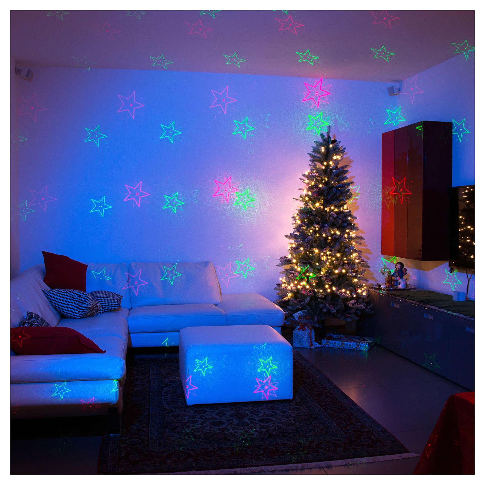 Proiettore laser Natale 6 temi natalizi rosso verde per interno 3