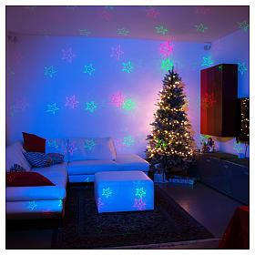 Proiettore laser Natale 6 temi natalizi rosso verde per interno s1