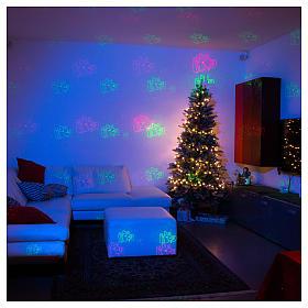 Proiettore laser Natale 6 temi natalizi rosso verde per interno s4