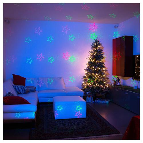 Proiettore laser Natale 6 temi natalizi rosso verde per interno 1