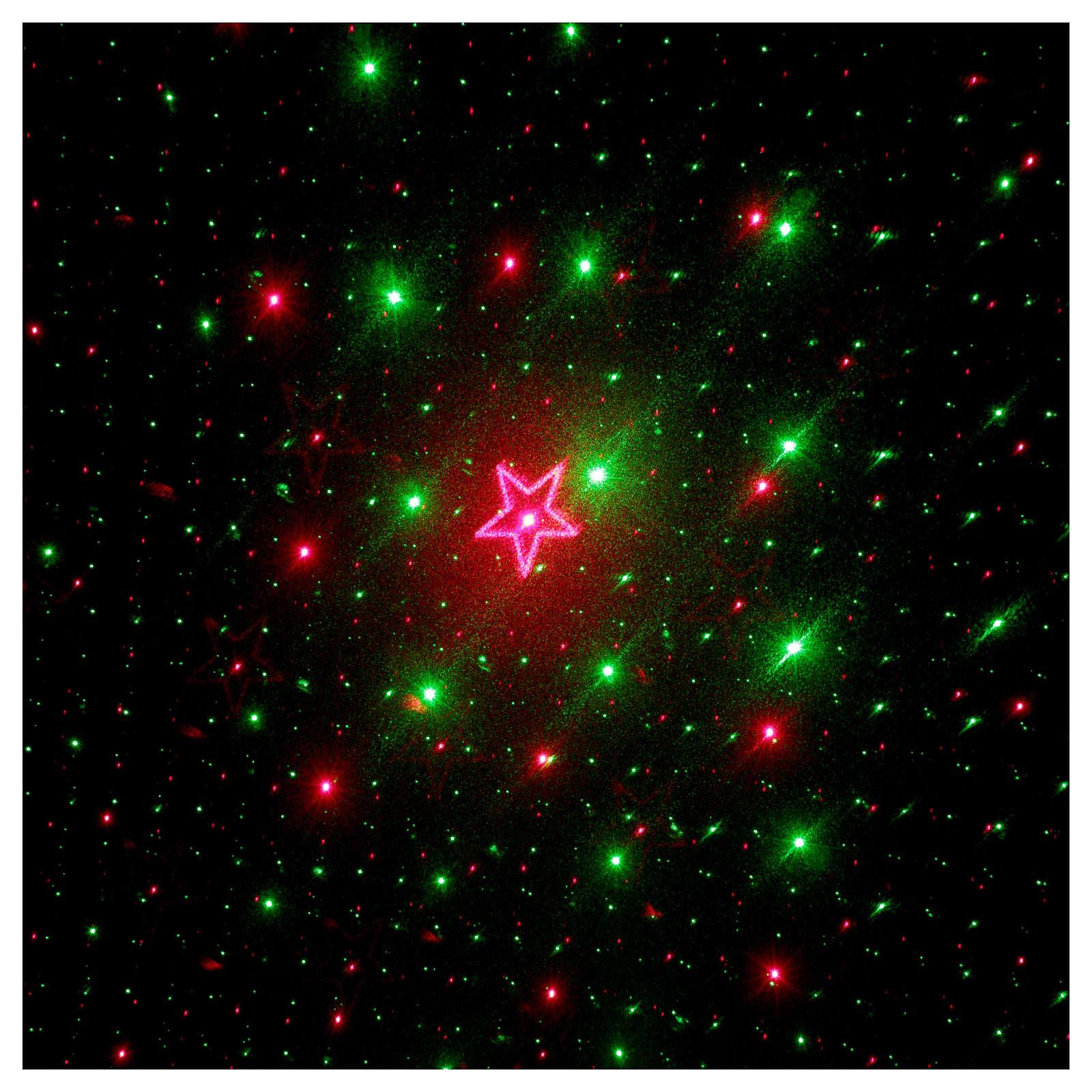 Proiettore laser 4 immagini rosso verde per interno 3