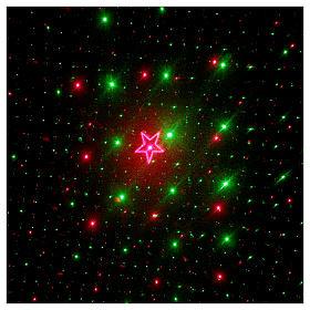 Proiettore laser 4 immagini rosso verde per interno s4