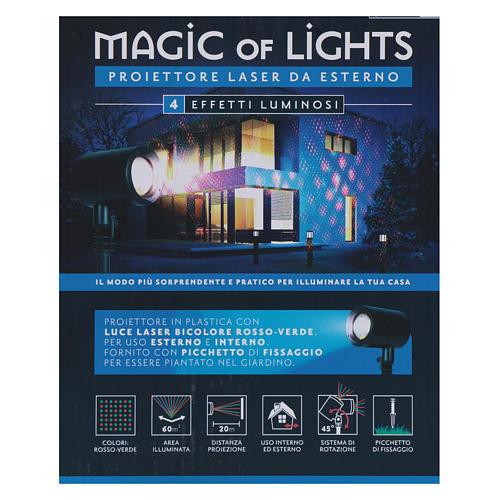 Proiettore laser puntini 4 effetti interno esterno 7