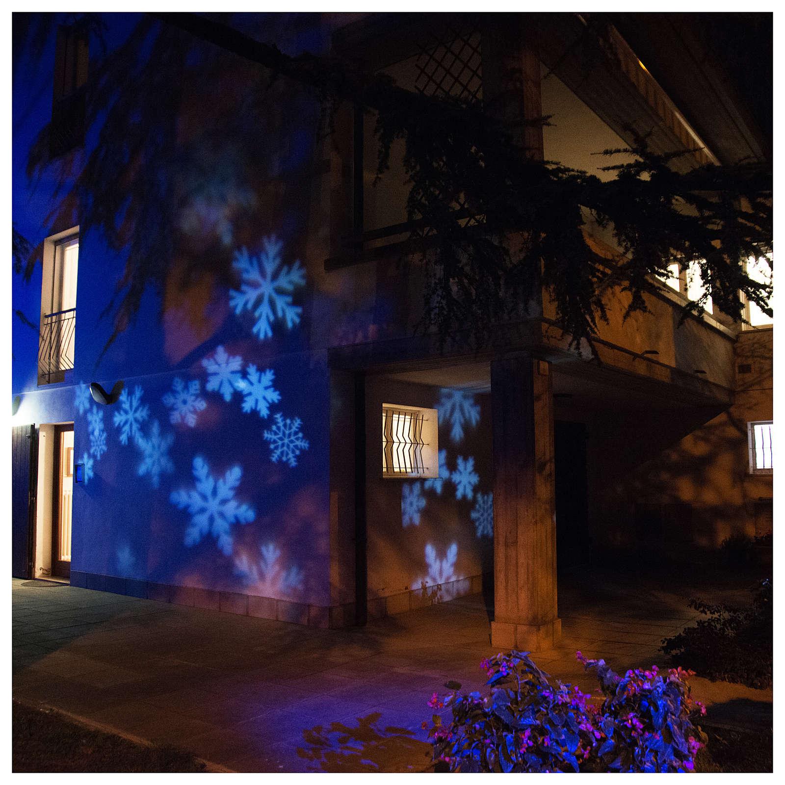 Proiettore led fiocco di neve interno esterno 3