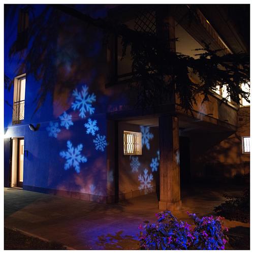 Proiettore led fiocco di neve interno esterno 4