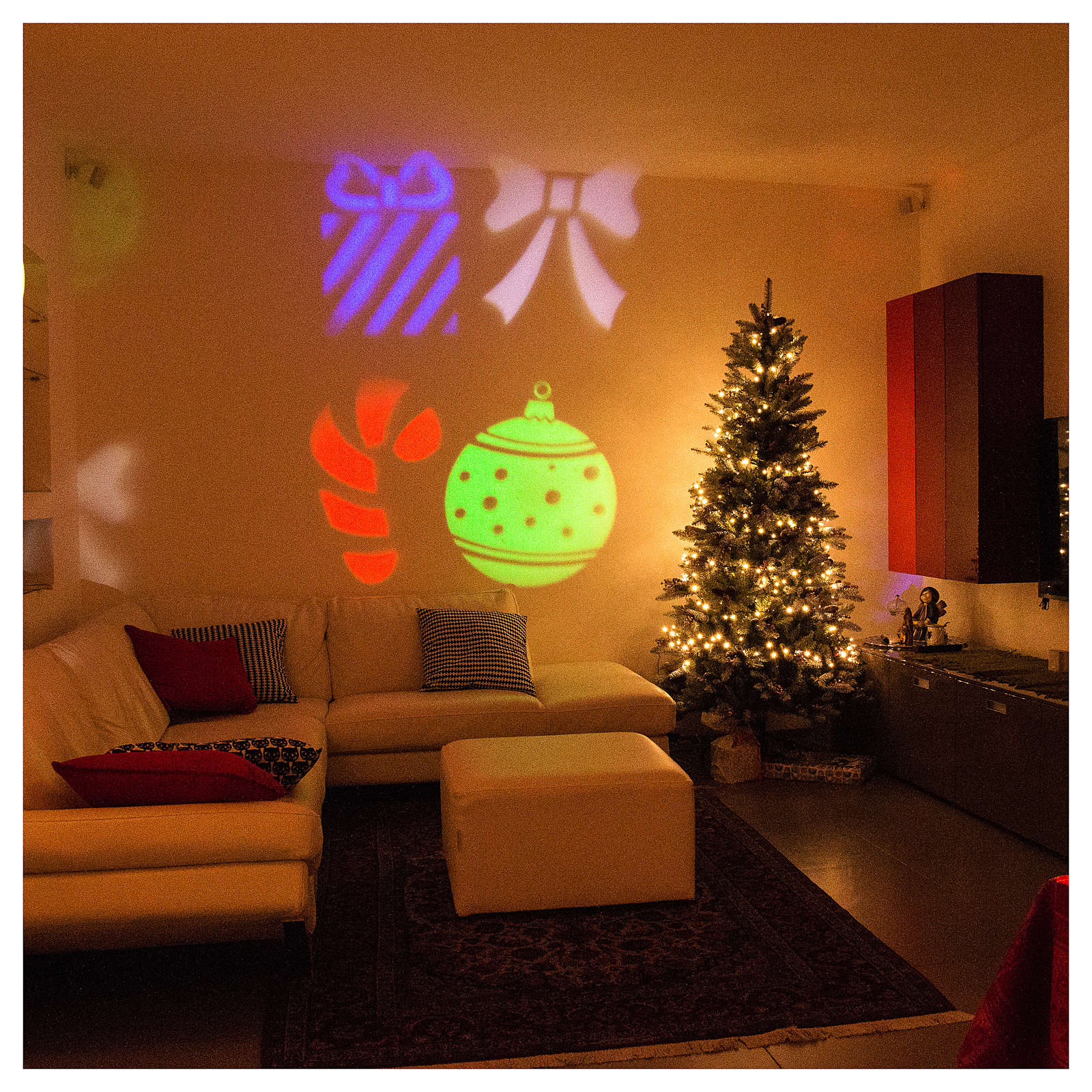Proiettore led Christmas interno esterno 3