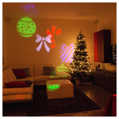 STOCK Christmas projector leds internal and external use 4