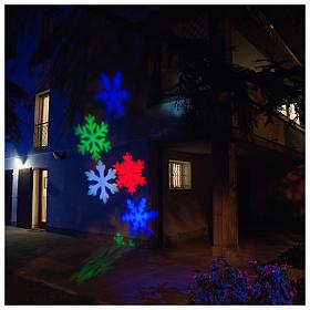 STOCK LED-Projektor Schneeflocke mehrfarbig für innen und außen s1
