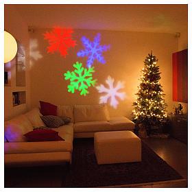 STOCK LED-Projektor Schneeflocke mehrfarbig für innen und außen s5