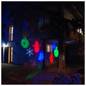 Christmas projector led winter theme internal and external use s4