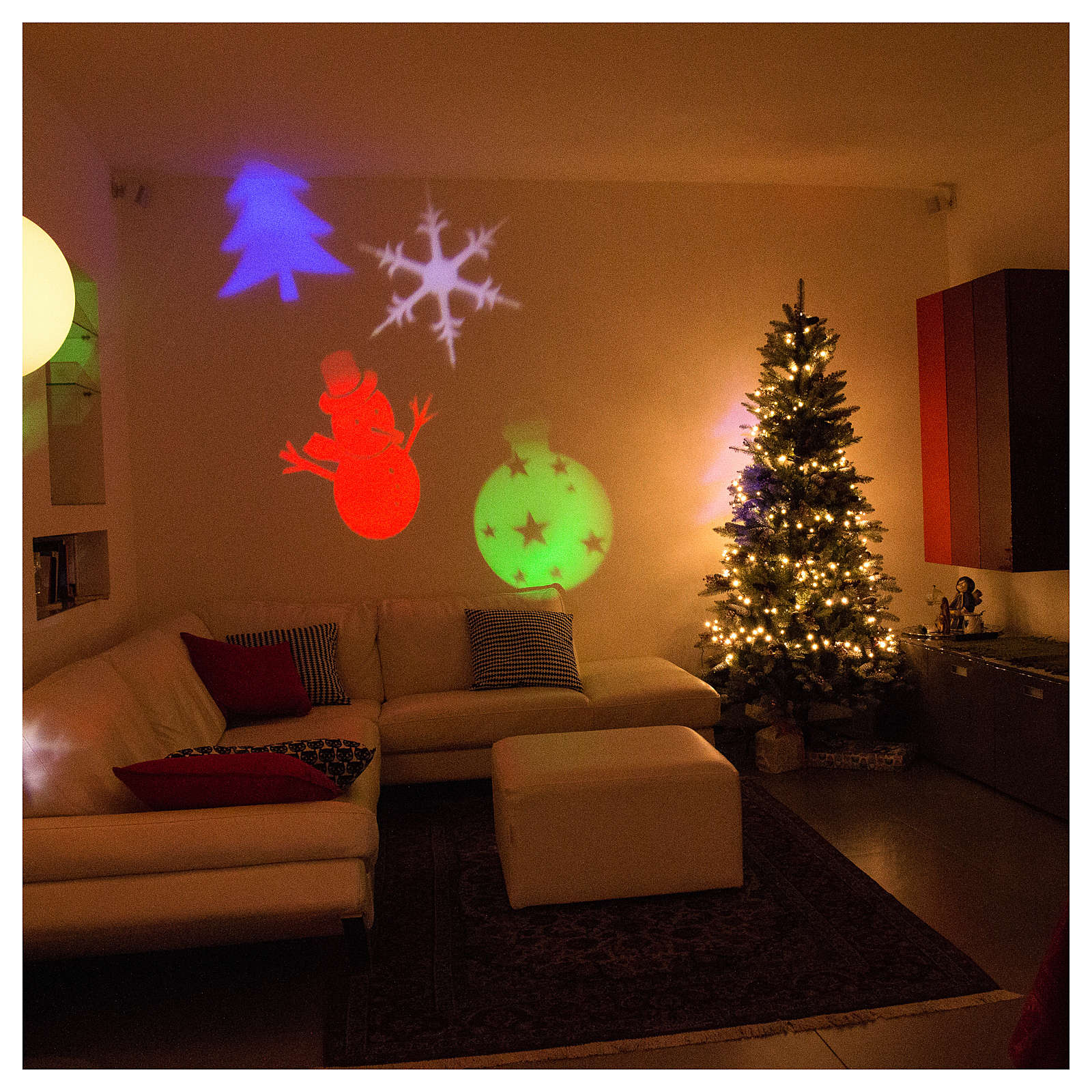 Christmas Projector.Christmas Projector Led Winter Theme Internal And External Use