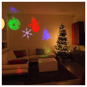 Christmas projector led winter theme internal and external use s5