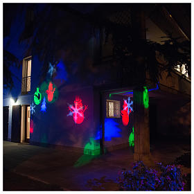Christmas projector led winter theme internal and external use s6
