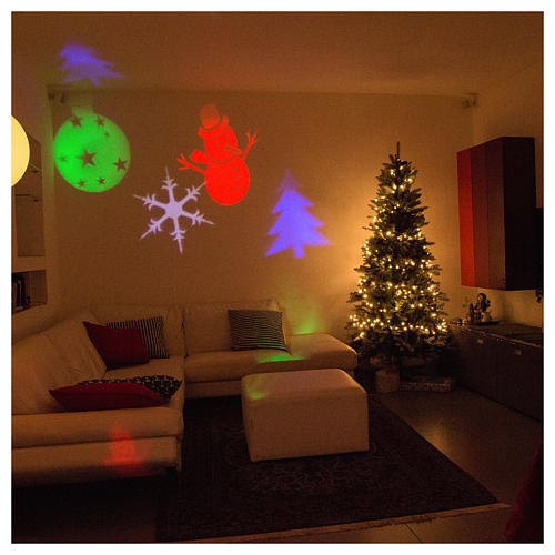 Christmas projector led winter theme internal and external use 5