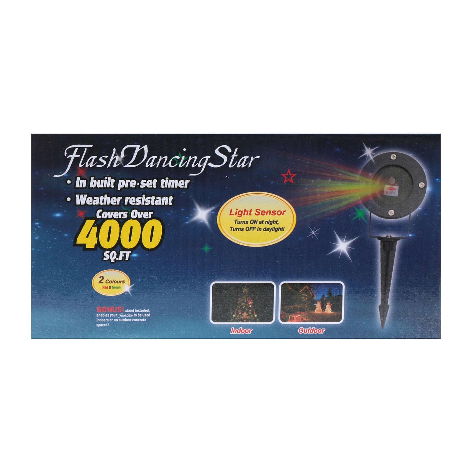 Proiettore laser puntini con crepuscolare interno esterno 3