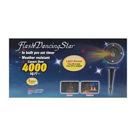 Proiettore laser puntini con crepuscolare interno esterno s9