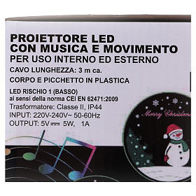 Sleigh LED light projector with music for outdoor use s8