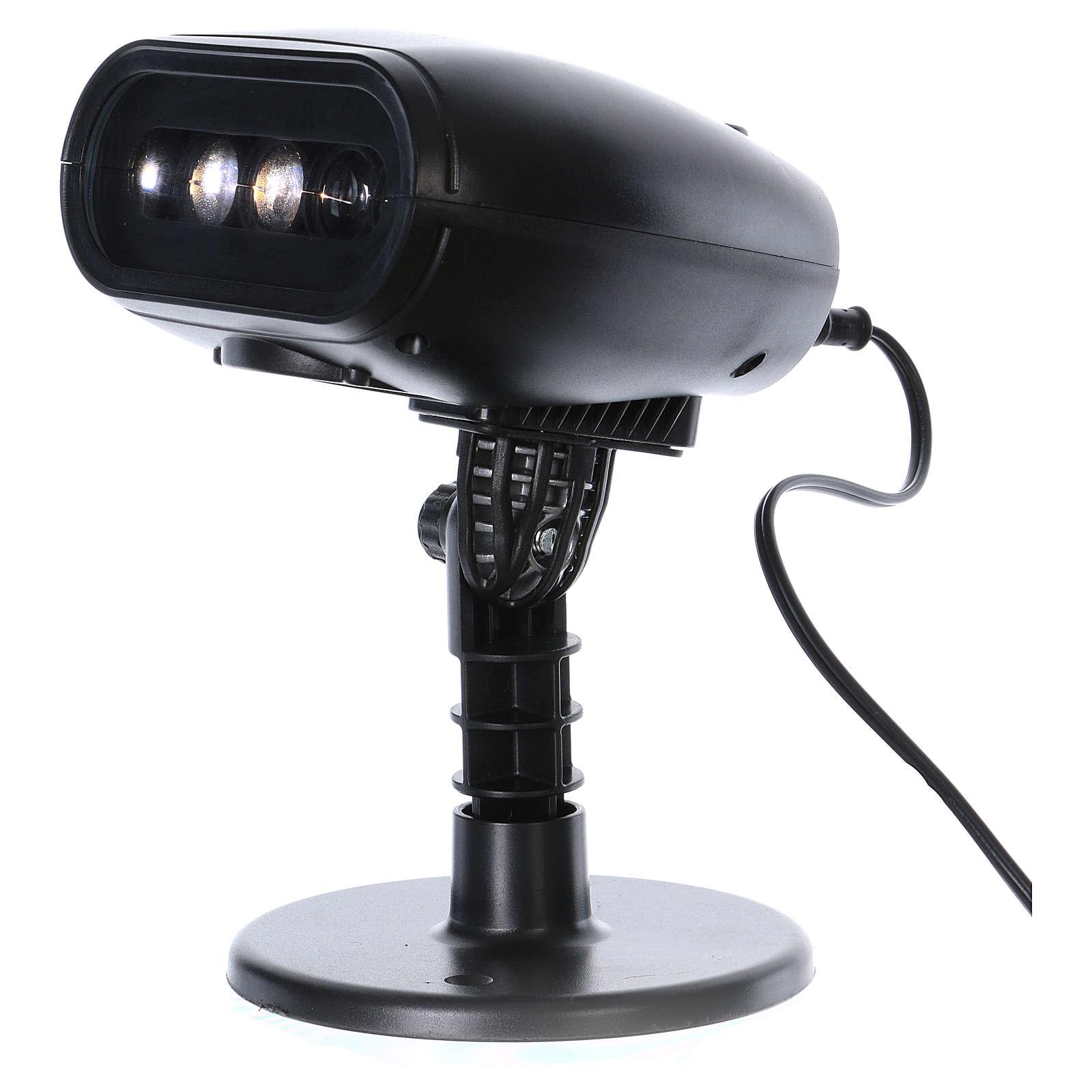 Projetor LED trenô com música para exterior 3