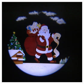 Santa Claus LED light projector with moving parts and music s1
