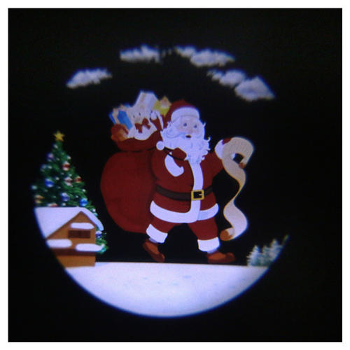 Santa Claus LED light projector with moving parts and music 1