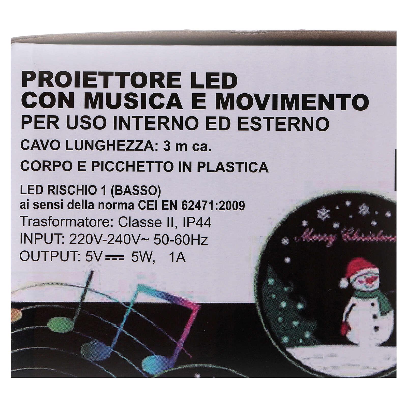 Projetor LED Pai Natal movimento e música 3