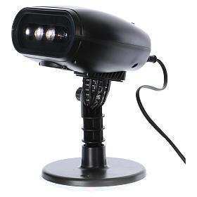 Projektor mit LEDs Pinguin mit Musik, außen und innen s2