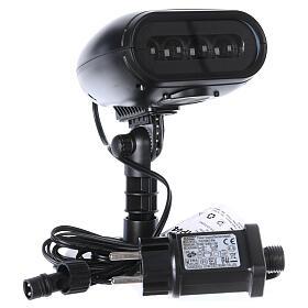 Projektor mit LEDs Pinguin mit Musik, außen und innen s6