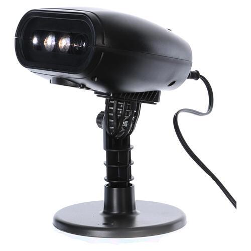 Projektor mit LEDs Pinguin mit Musik, außen und innen 2