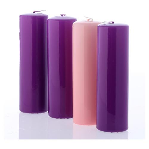 Kit bougies brillantes pour l'Avent 20x6 cm 2