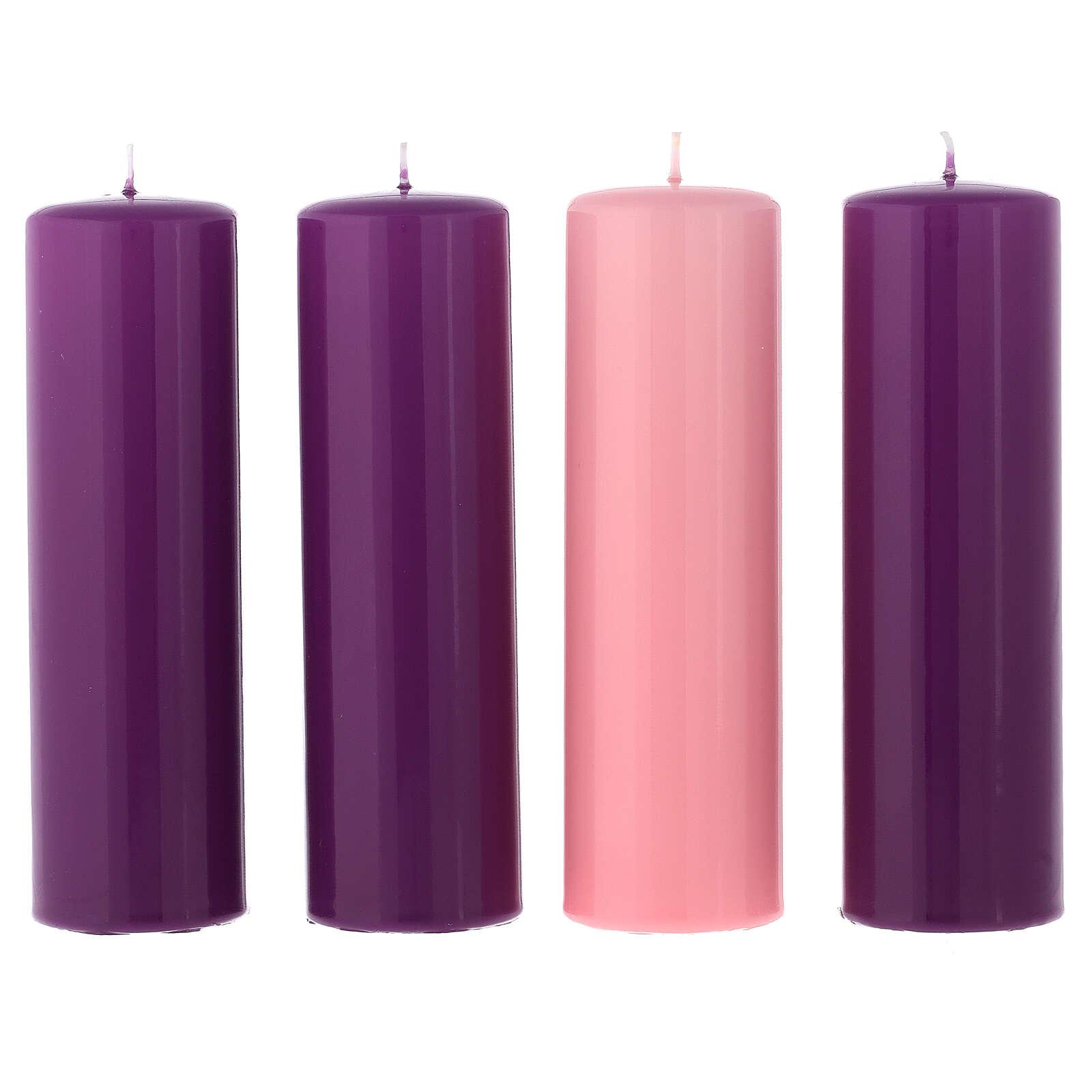 Zestaw świeczek błyszczących na Adwent 20x6 cm 3