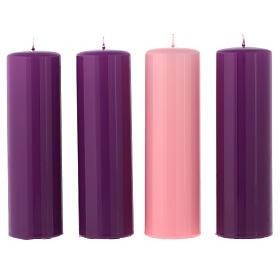 Zestaw świeczek błyszczących na Adwent 20x6 cm s1