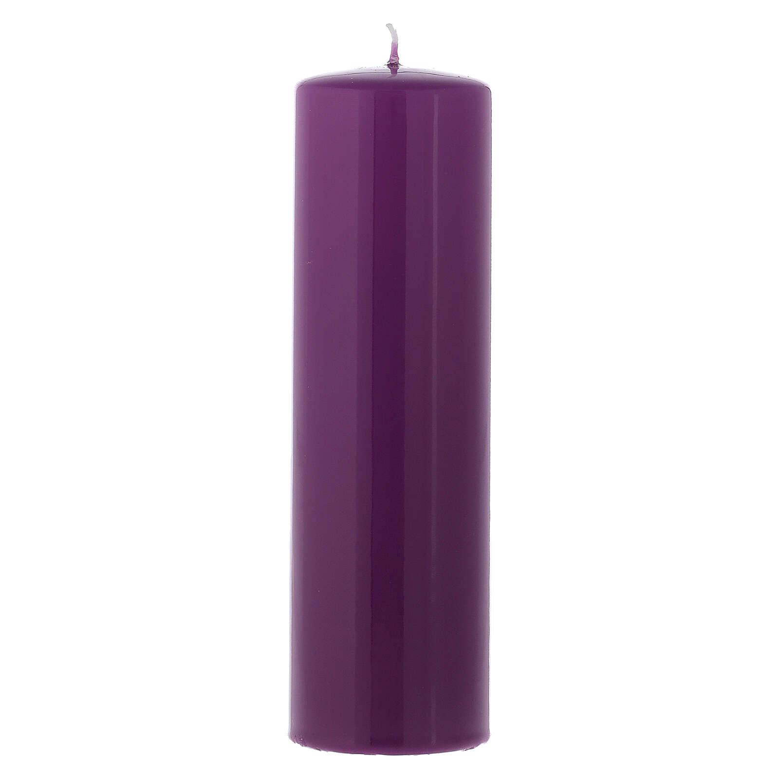 Conjunto velas brilhantes para o Advento 20x6 cm 3
