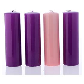 Advento: Conjunto velas brilhantes para o Advento 20x6 cm