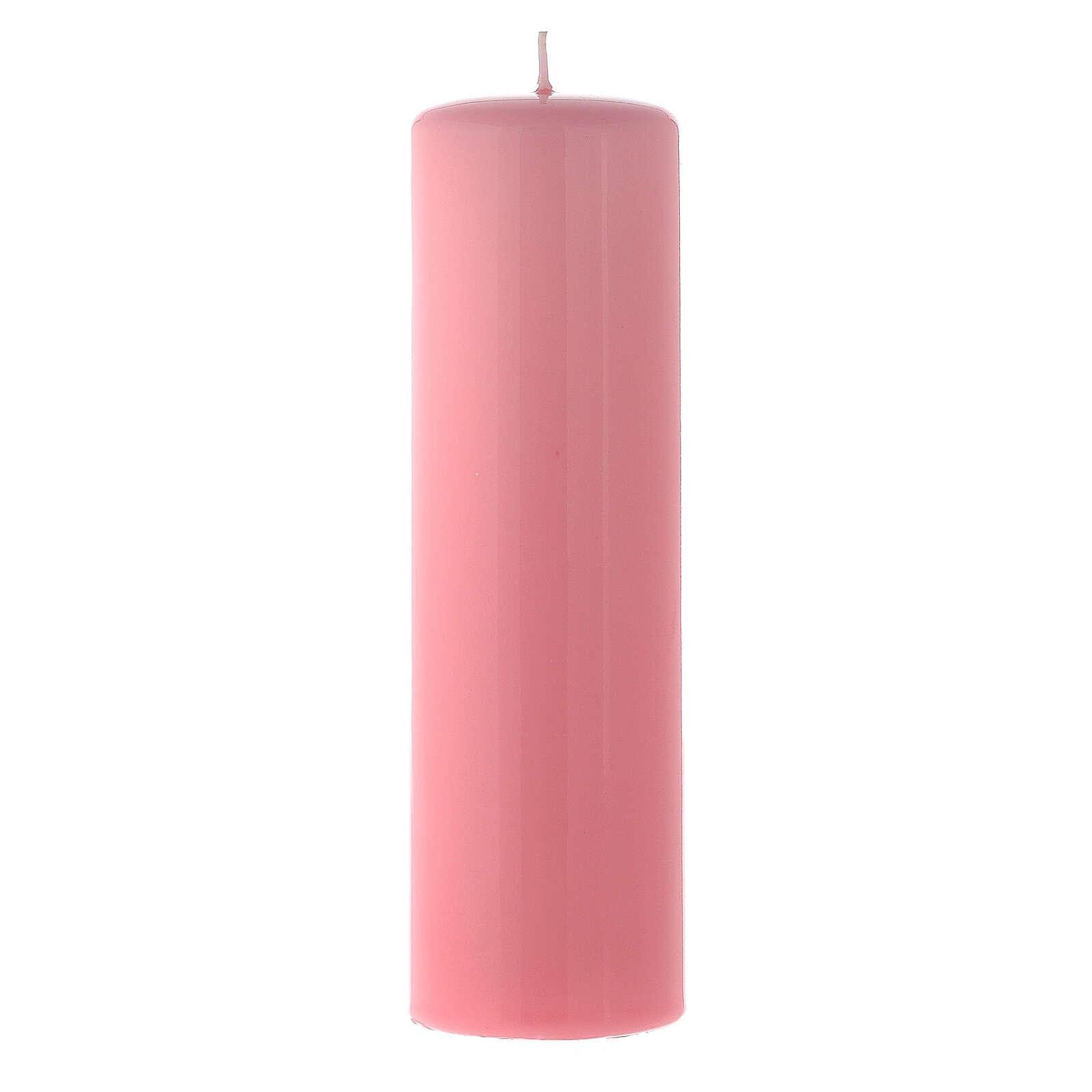 Advent candles 8x2 inc, 3 purple 1 rose 3