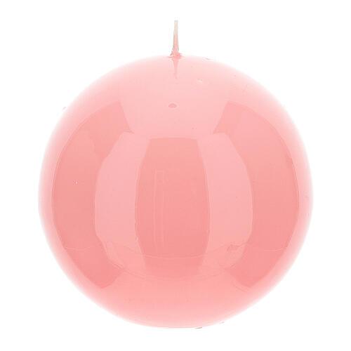 Set 4 Kugel-Kerzen für Advent 10cm glatt 3