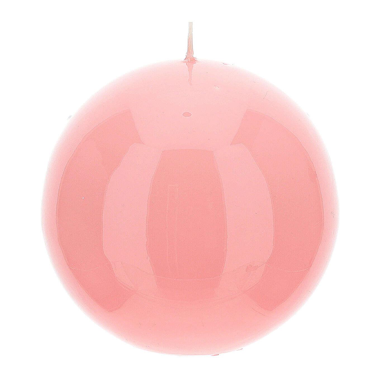 Candele per l'Avvento 4 sfere lucide 10 cm 3