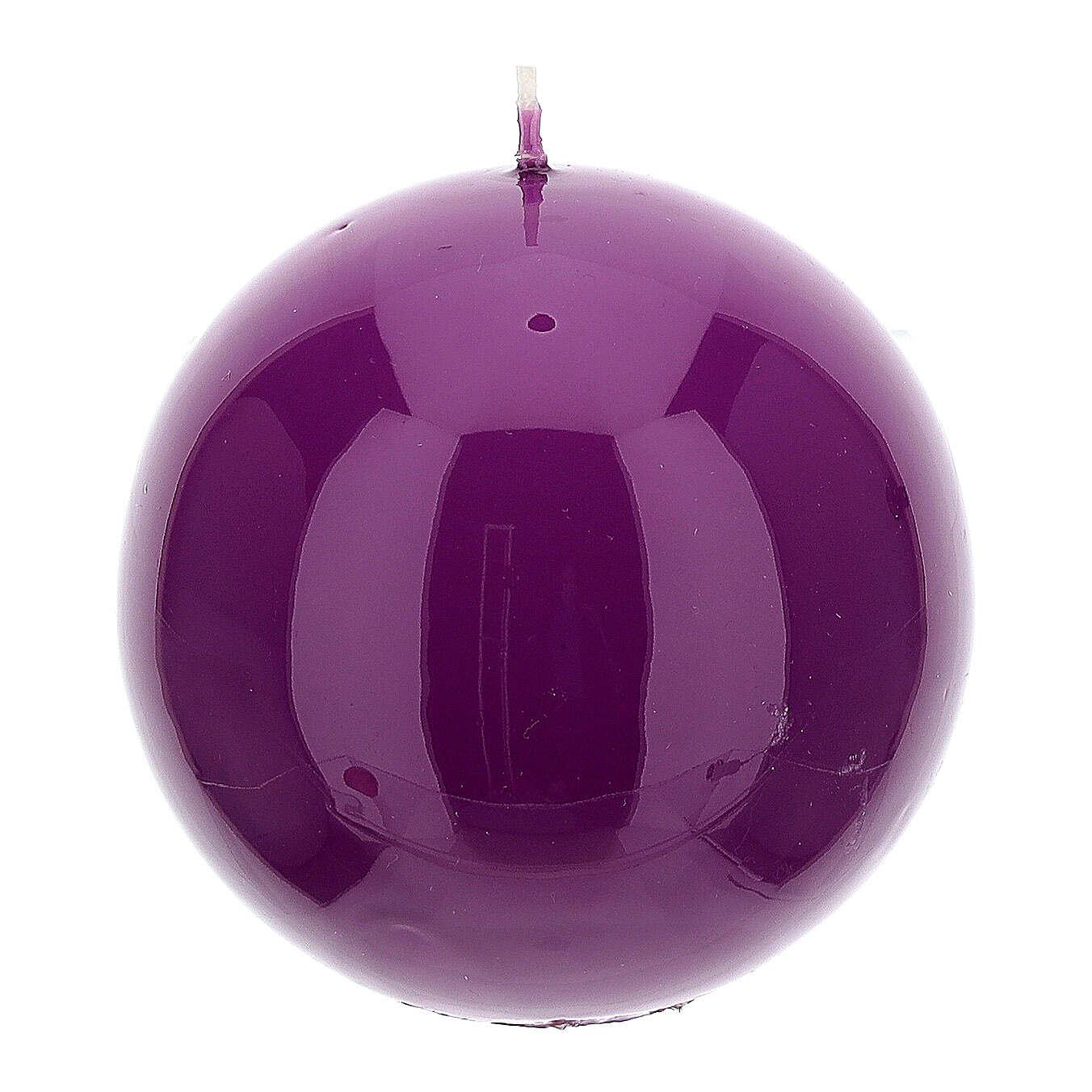 Świeczki na Adwent 4 sfery błyszczące 10 cm 3