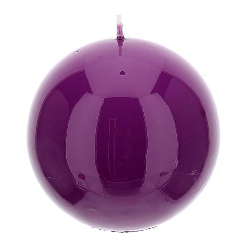 Świeczki na Adwent 4 sfery błyszczące 10 cm 2