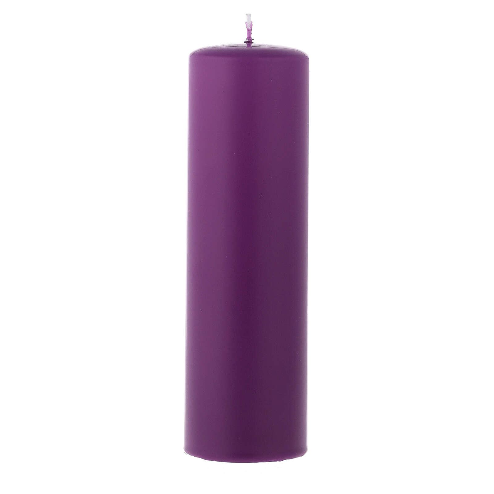 Set 4 Kerzen für Advent 6x20cm matt 3