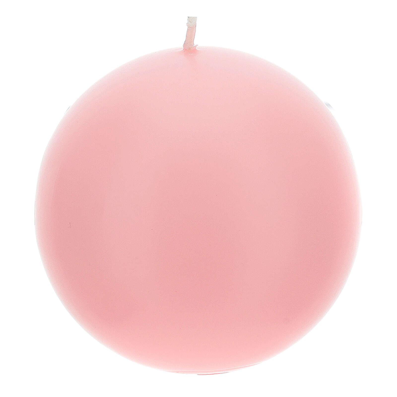 Candele per Avvento sfera opaca 4 pezzi 10 cm 3
