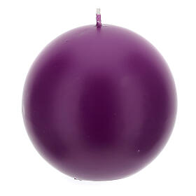 Candele per Avvento sfera opaca 4 pezzi 10 cm s3