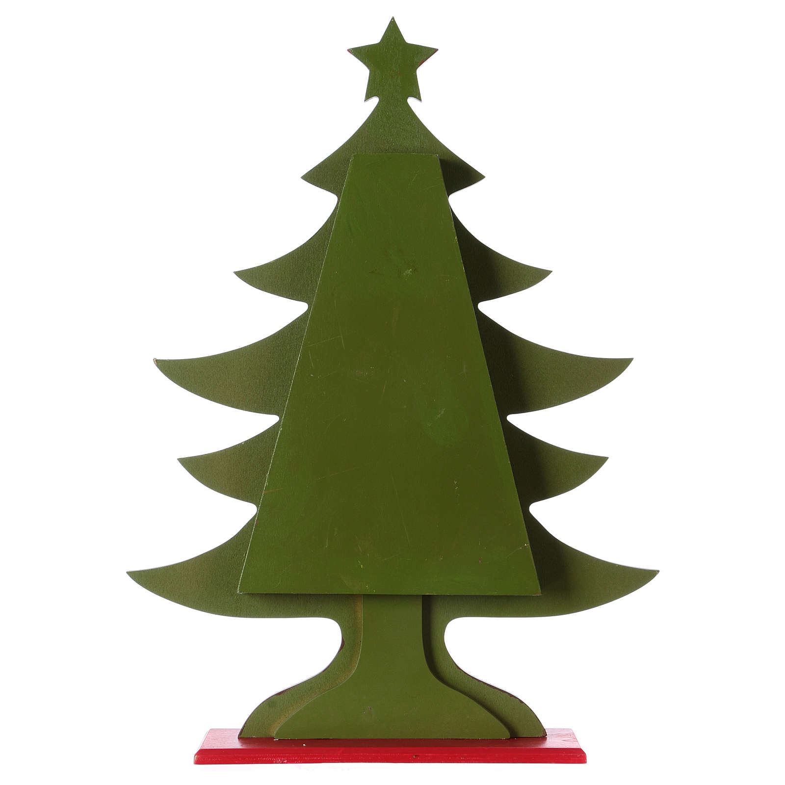 Advent calendar in wood, Christmas tree shaped 3