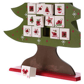 Advent calendar in wood, Christmas tree shaped s3