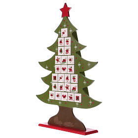 Advent calendar in wood, Christmas tree shaped s4