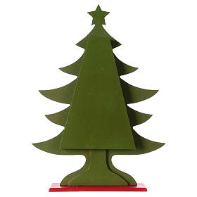 Advent calendar in wood, Christmas tree shaped s6