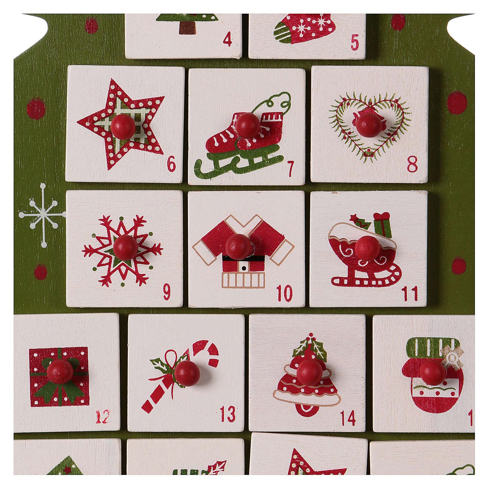 Immagini Calendario Dellavvento.Calendario Dell Avvento In Legno A Forma Di Albero Di Natale