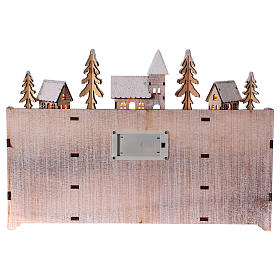 Advent calendar in wood with landscape and lights s4
