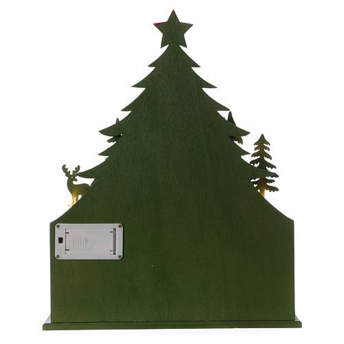 Kalendarz adwentowy 40 cm kościół z drewna LED 6