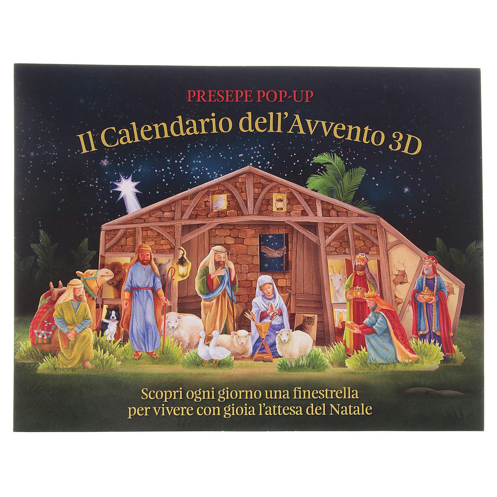 Immagini Calendario Dellavvento.Calendario Dell Avvento 3d Con Finestrelle